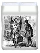 Cholera In Slums, 1866 Duvet Cover