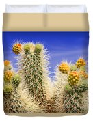 Cholla Cactus In Joshua Tree By Diana Sainz Duvet Cover