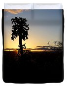 Cholla Cactus Sunset Duvet Cover