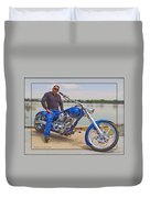 Chopper Motorcycle Duvet Cover