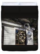 Chownings Tavern Wreath Duvet Cover