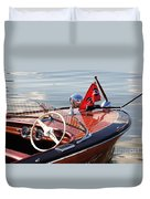 Chris Craft Deluxe Runabout Duvet Cover