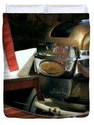 Chris Craft With Johnson Motor Duvet Cover