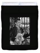 Chris Craig - New Orleans Musician Bw Duvet Cover
