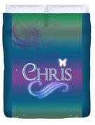Chris Name Art Duvet Cover