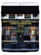 Chris's London Pub Duvet Cover
