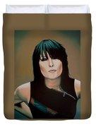Chrissie Hynde Painting Duvet Cover