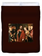Christ And The Adulteress Duvet Cover
