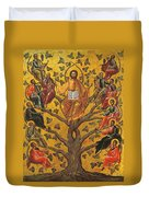 Christ And The Apostles Duvet Cover