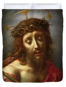 Christ As The Man Of Sorrows Duvet Cover by Carlo Dolci