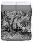 Christ Church Etching Duvet Cover by Debra and Dave Vanderlaan