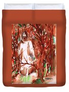 Christ In The Forest Duvet Cover