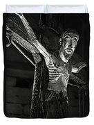 Christ Of Salardu - Bw Duvet Cover