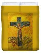 Christ On The Cross Duvet Cover