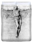 Christ On The Cross Duvet Cover by Michelangelo Buonarroti