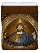 Christ Pantocrator Mosaic Duvet Cover by RicardMN Photography