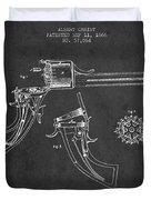 Christ Revolver Patent Drawing From 1866 - Dark Duvet Cover