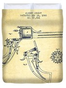 Christ Revolver Patent Drawing From 1866 - Vintage Duvet Cover