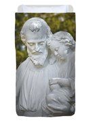 Christ With Child Duvet Cover