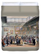 Christies Auction Room, Illustration Duvet Cover