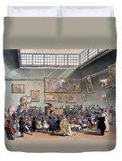 Christies Auction Room, Illustration Duvet Cover