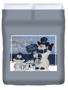 Christmas - Snowmen Collection - Family - Peace - Snow Duvet Cover