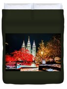 Christmas At Temple Square Duvet Cover