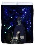 Christmas At The War Memorial Duvet Cover