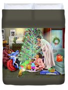 Christmas Back In Da Day Duvet Cover