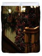 Christmas Banister 2 Duvet Cover