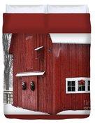 Christmas Barn 3 Duvet Cover