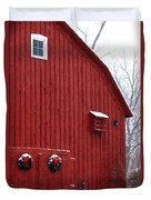 Christmas Barn 4 Duvet Cover