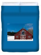 Christmas Barn Duvet Cover by Edward Fielding