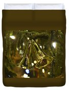 Christmas Bells Ornaments Faneuil Hall Tree Boston Duvet Cover