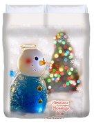 Christmas Blessings Duvet Cover