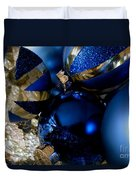 Christmas Blue Duvet Cover