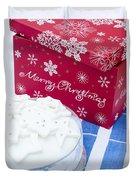 Christmas Cake Duvet Cover by Anne Gilbert