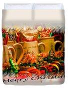 Christmas Candies Duvet Cover