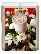 Christmas Candle 1 Duvet Cover