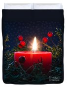 Christmas Candle Duvet Cover