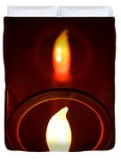Christmas Candle Reflection Duvet Cover