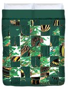 Christmas Card Collage Duvet Cover