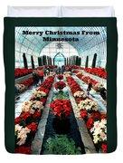 Christmas Card Sunken Garden Duvet Cover