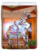 Christmas Carousel Zebra Duvet Cover