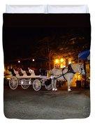 Christmas Carriage Duvet Cover