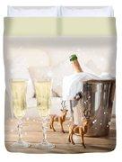 Christmas Champagne Duvet Cover
