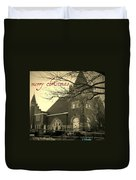 Christmas Chapel Duvet Cover