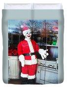 Christmas Clown Duvet Cover