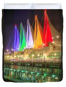 Christmas Colors At Canada Place Duvet Cover