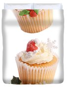 Christmas Cupcake Tower Duvet Cover